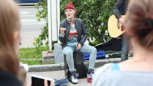 Cicca Kallas, bändin rumpali.