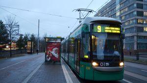 Nians språvagn i Helsingfors.