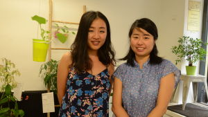 Yiying Wu och Aoi Yoshizawa.
