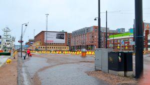 Här ska den norska hotellkungen Arthur Buchardts 16-våningar höga hotell stå.