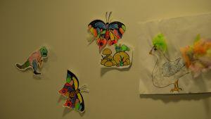 teckningar på väggen