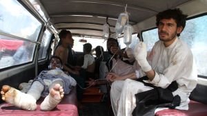 Bussolycka i Afghanistan dödade över 70 människor den 8 maj 3016.