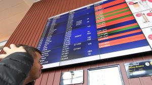 Inställda flygavgångar i samband med pilotstrejken på SAS