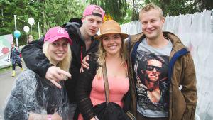 Linda, Sofia, Stefo och Ville