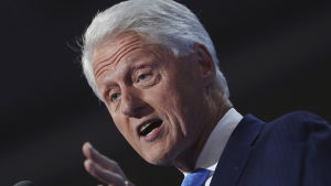 Bill Clinton under demokraternas partikonvent i Cleveland.