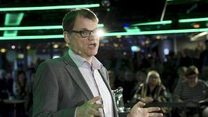 Centerns ordförande, statsminister Juha Sipilä på Centerns valkryssning.