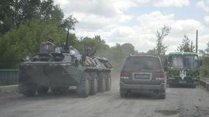 Ukrainska soldater i Luhansk.
