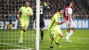 Messi gör rekodr i CL, jämn med Raúl.