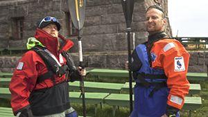 Tom Nylund och Veikka Gustafsson i paddlingsäventyret.