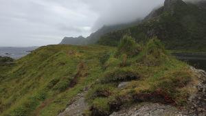 Polku vuoristomaisemassa