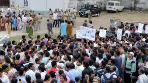 Protest i Indien mot våld mot kvinnor