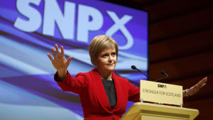 Skotska nationalistpartiets ledare Nicola Sturgeon