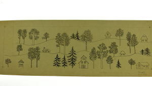 Rut Brykin mallipiirros Rosenthalin Winterreise -astiastoon