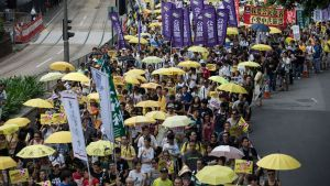 Pro-demokrati-demonstration i Hong kong.