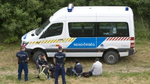 Flyktingar i Ungern juni 2015
