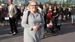 Laura Klingberg på demonstration