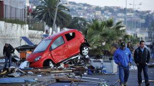 Jordbävning i Chile.