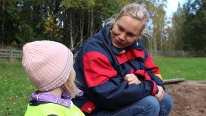 Annika Eriksson, föreståndare för Jorvas barnträdgård