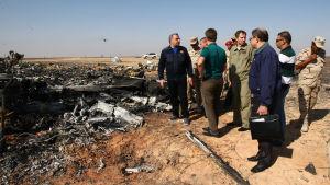 Det ryska kraschade planet i Sinai