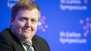Sigmundur Davíð Gunnlaugsson den 7 maj 2015.