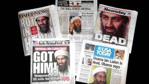 Amerikanska tidningsrubriker efter att Usama bin Ladin dödats