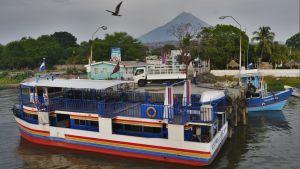 Färjan som går till vulkanön Ometepe i Nicaraguasjön.
