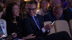 Alexander Stubb och Suzanne Innes-Stubb på Samlingspartiets kongress