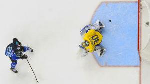 Sverige förlorade mot Team Europe i den sista träningslandskampen.
