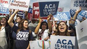 Demonstration till stöd för Obamacare.