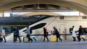 Den nya tågprojektet JIng-Jin-Ji skall förbinda Peking (i bild) med hamnstaden Tianjin och grannprovinsen Hebei