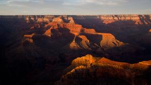 Solnedgång i Grand Canyon i Arizona