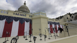 Förberedelser på Capitol Hill i Washington.