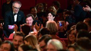 Aki Kaurismäki belönades med regipriset Silverbjörnen vid filmfestivalen i Berlin den 18 februari 2017.