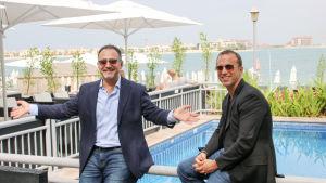 Businesskollegerna Markus Thesleff och Ramzy Abdul-Majeed.