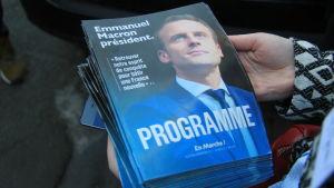 Emmanuel Macrons valprogram.