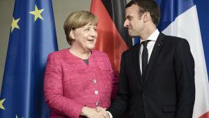 Angela Merkel och Emmanuel Macron