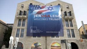 Jerusalem välkomnar Donald Trump.