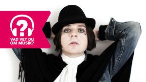 Musikern Henrik Berggren och Musiktestets logo