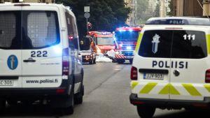 Olycksplatsen i Helsingfors 28.7.2017.
