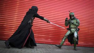 Star Wars -fans utklädda till sina favoritkaraktärer.