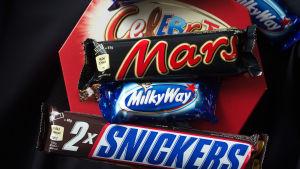Tillbakadragningen gäller chokladstängerna Mars och Snickers, godisblandningen Celebration och Milky Way minis.