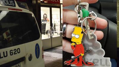 Ung kvinna stoppade tjuvar hyllas av polis