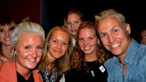 Fans med Fredrika och Janne på STK i Vasa.