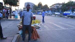 Bananpojken Addis i Etiopien