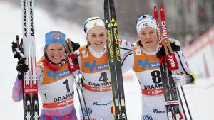 Krista Pärmäkoski, Stina Nilsson, Hanna Falk.