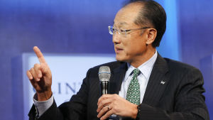 Världsbankens chef Jim Yong Kim i New York den 22 september 2014