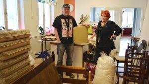 Insamlade möbler.