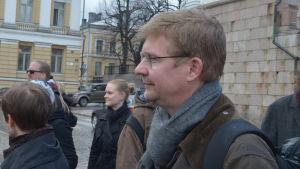 Markus Jäntti tog initiativ till en solidarisk utmarsch vid HU 20.4