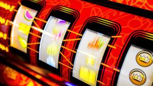 Närbild av spelautomat