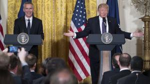 Donald Trump och Jens Stoltenberg